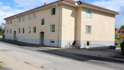 Flerbostadshus i två våningar