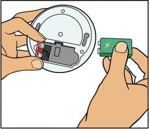 Byta batteri i brandvarnare