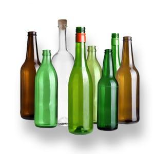 Diverse glasflaskor