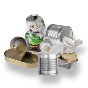 Diverse metallförpackningar (konservburkar mm)