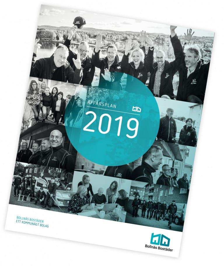 Bild på framsidan av Bollnäs Bostäders Affärsplan 2019