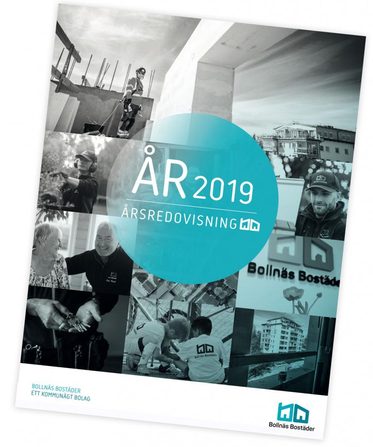 Bild på framsidan av Bollnäs Bostäders årsredovisning 2019
