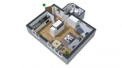 Lägenhet utan balkong